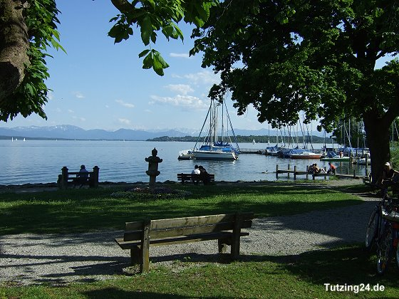 Park in Tutzing am Starnberger See